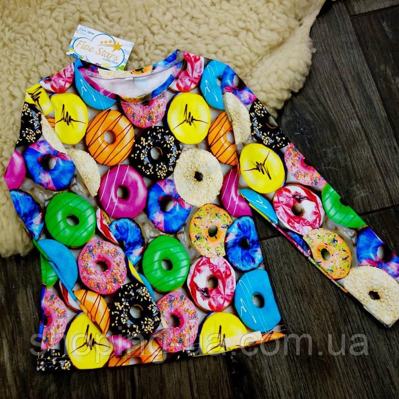 Реглан цветные пончики Five Stars KD0441-104р