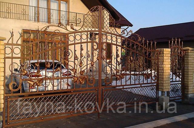 Ворота кованные 367