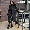 Зимове чорне тепле пальто з хутром Ріміні, фото 9