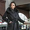Зимове чорне тепле пальто з хутром Ріміні, фото 6