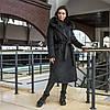 Зимове чорне тепле пальто з хутром Ріміні, фото 8