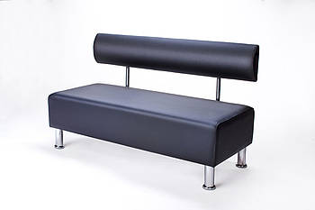 Диван офисный BNB Solo 1200x540x750 черный. Для школы, больницы, приемной, ожидания