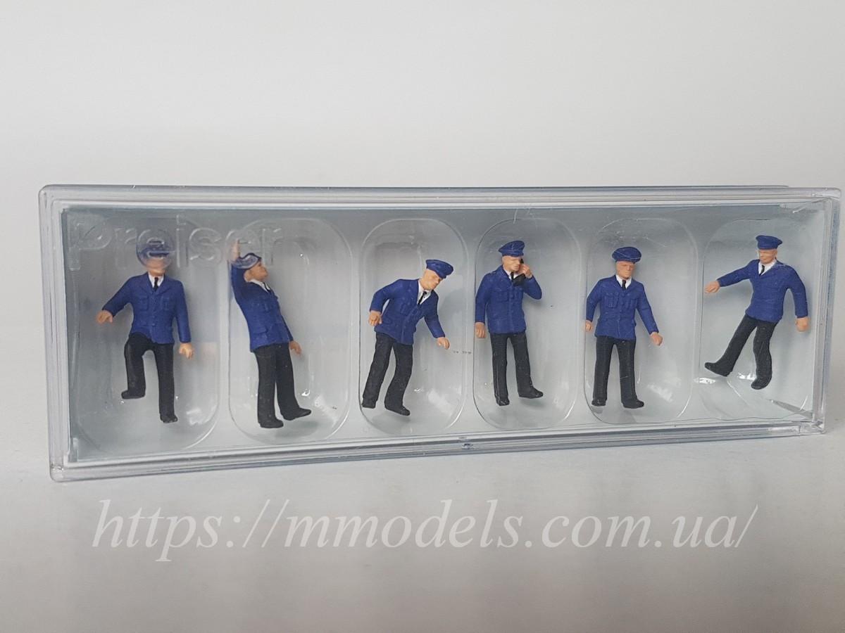 Preiser 14012 Набор человечков железнодорожники ( железнодорожный персонал )  6 штук, масштаба 1:87