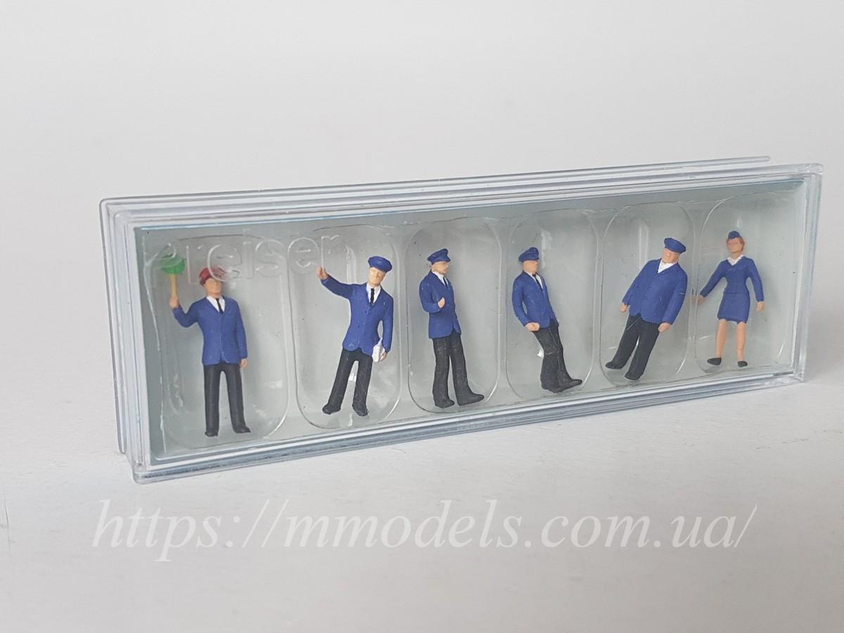 Preiser 14011 Набір чоловічків залізничники ( залізничний персонал ) 6 штук, масштабу 1:87