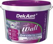 """Краска интерьерная акриловая ВДА """"WALL"""" белая матовая ТМ DekArt 1,2 кг (1л)"""