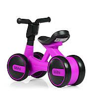 Толокар-беговел для малышей BAMBI M 4086-9 фиолетовый с музыкой и светом, фото 5
