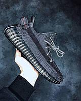 Кроссовки мужские женские Adidas Yeezy Boost 350 V2 Black Static чоловічі кросівки адидас изи кросовки летние
