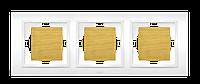 Рамка тройная береза El-Bi Zena