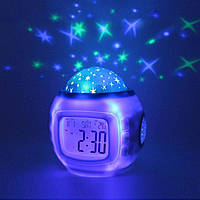 Электронные часы-проектор звездного неба | Ночник с часами 1038
