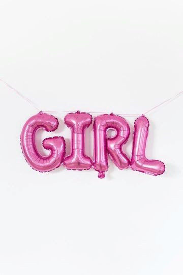 Фольгированная надпись girl