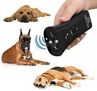 Ультразвуковой отпугиватель собак MT-651E + крона | Отпугиватель собак с фонариком