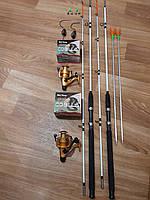 Рыболовный набор Crocodile, набор рыбака, Комплекты рыболовные, Набор рыболовных снастей, Спиннинг в Сборе!
