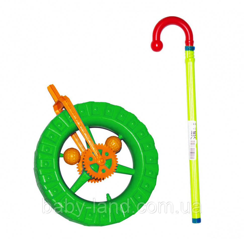 Детская каталка колесо 1-014 (Green)