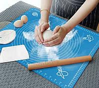 Кондитерский коврик силиконовый для теста 50*40 см Silicon mate testa | Силиконовый антипригарный коврик