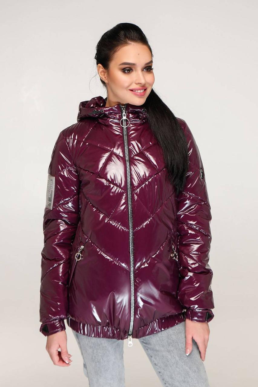 Модна якісна лакова куртка жіноча, весна-осінь