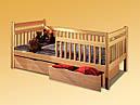 Ліжко дитяче з натурального дерева Буратіно Дрімка, фото 3