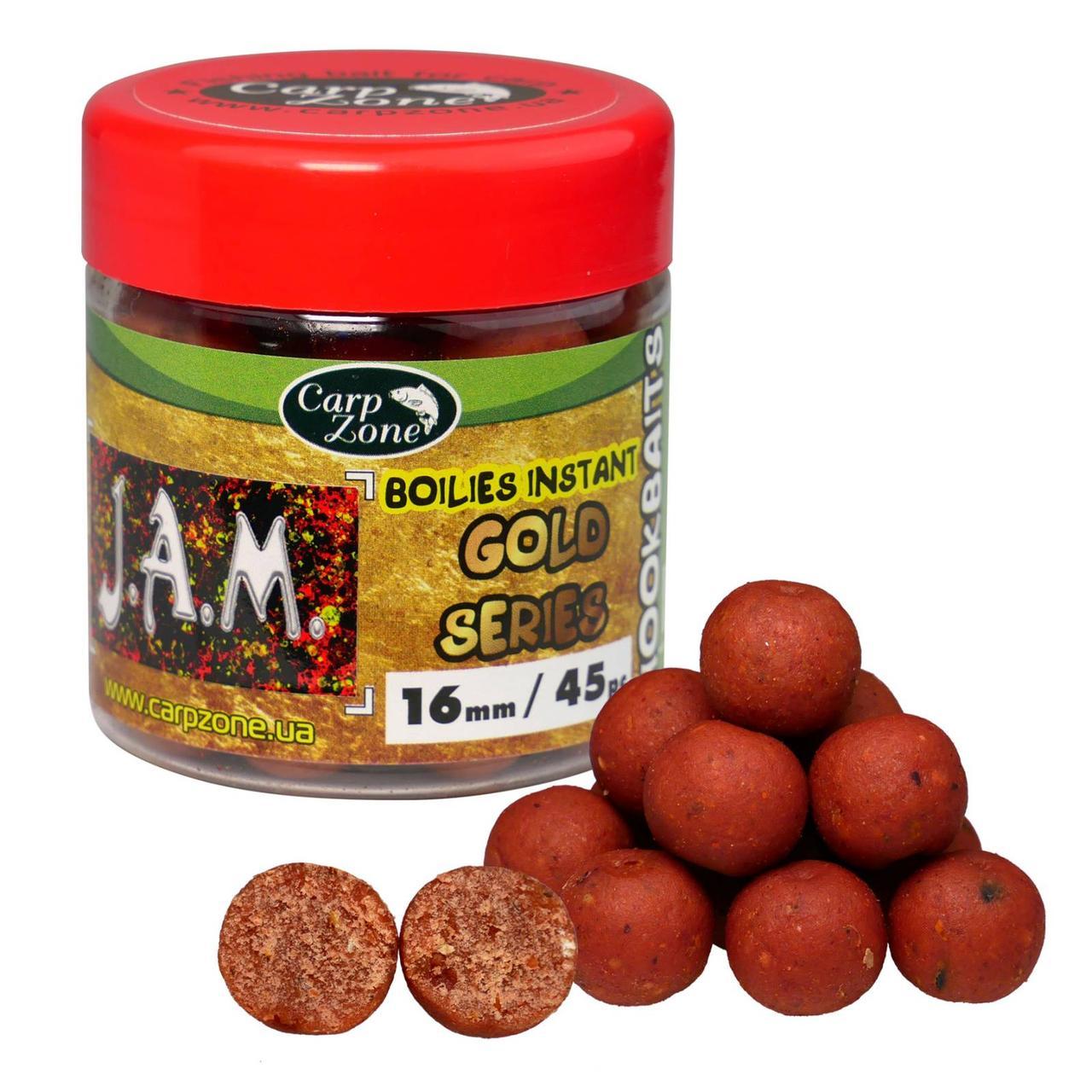 Бойлы насадочные вареные Boilies Gold series Instant Hookbaits J.A.M. 16mm/45pc
