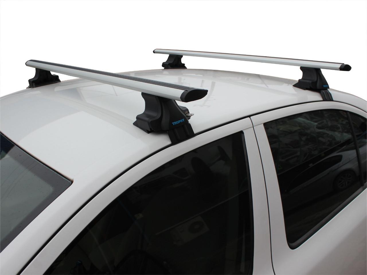 Перемычки на гладкую крышу (2 шт, TrophyBars) Toyota Avensis 2003-2009 гг. / Багажник Тойота Авенсис