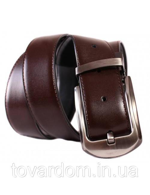 Двухсторонний ремень из эко кожи D-Belts S0082 коричневый/черный