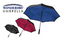 Зонт наоборот Wonderdry Compact Umbrella | Зонт обратного сложения | Зонт антиветер