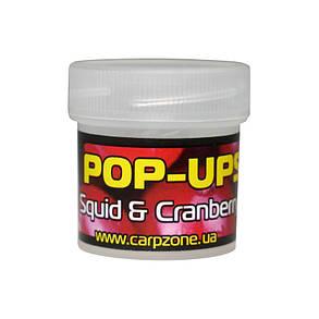 Поп Ап Pop-Ups Fluro Squid & Cranberry (Кальмар и Клюква) 10mm/45pc, фото 2