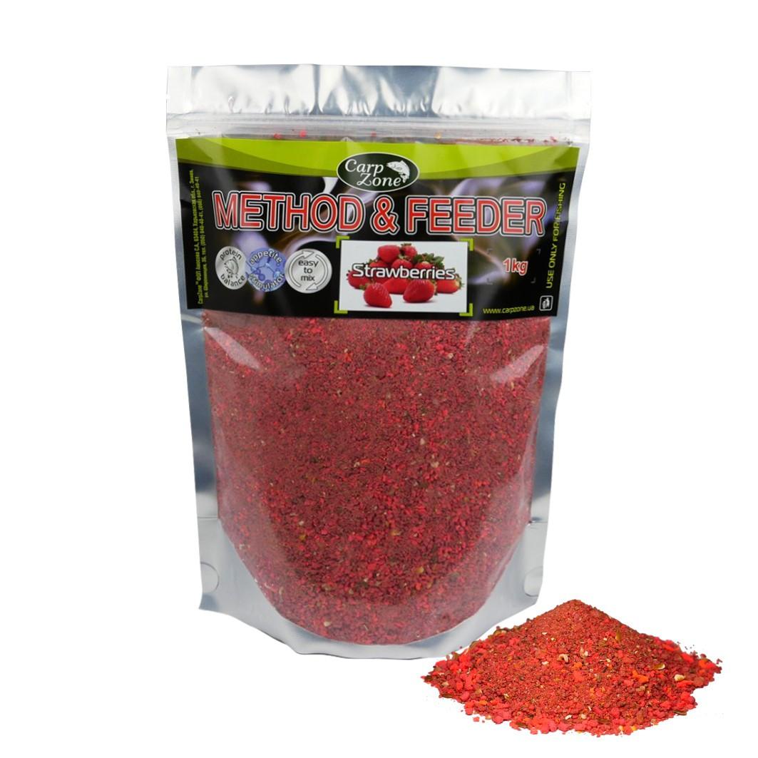 Прикормка Метод и Фидер Method & Feeder Strawberries (Клубника) 1kg