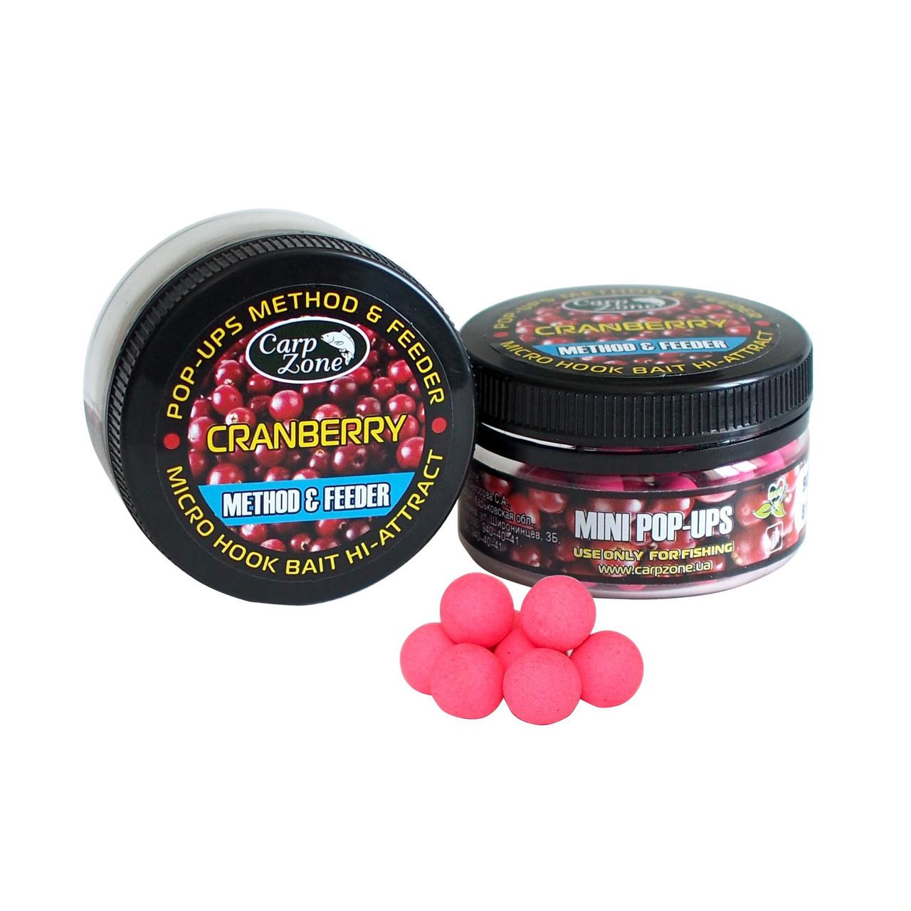 Поп Ап CarpZone Pop-Ups Method & Feeder Cranberry (Клюква) 8mm/90pc