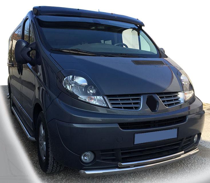 Передняя защита ST014 (нерж.) Renault Trafic 2001-2015 гг. / Передние защиты Рено Трафик