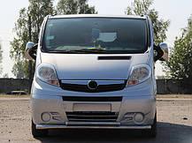 Передняя защита ST014 (нерж.) Renault Trafic 2001-2015 гг. / Передние защиты Рено Трафик, фото 3