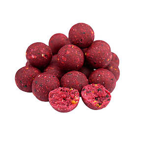 Бойлы пылящие Премиум класса Boilies P-Complex Soluble Squid & Cranberry (Кальмар и Клюква) 20mm 1kg, фото 2