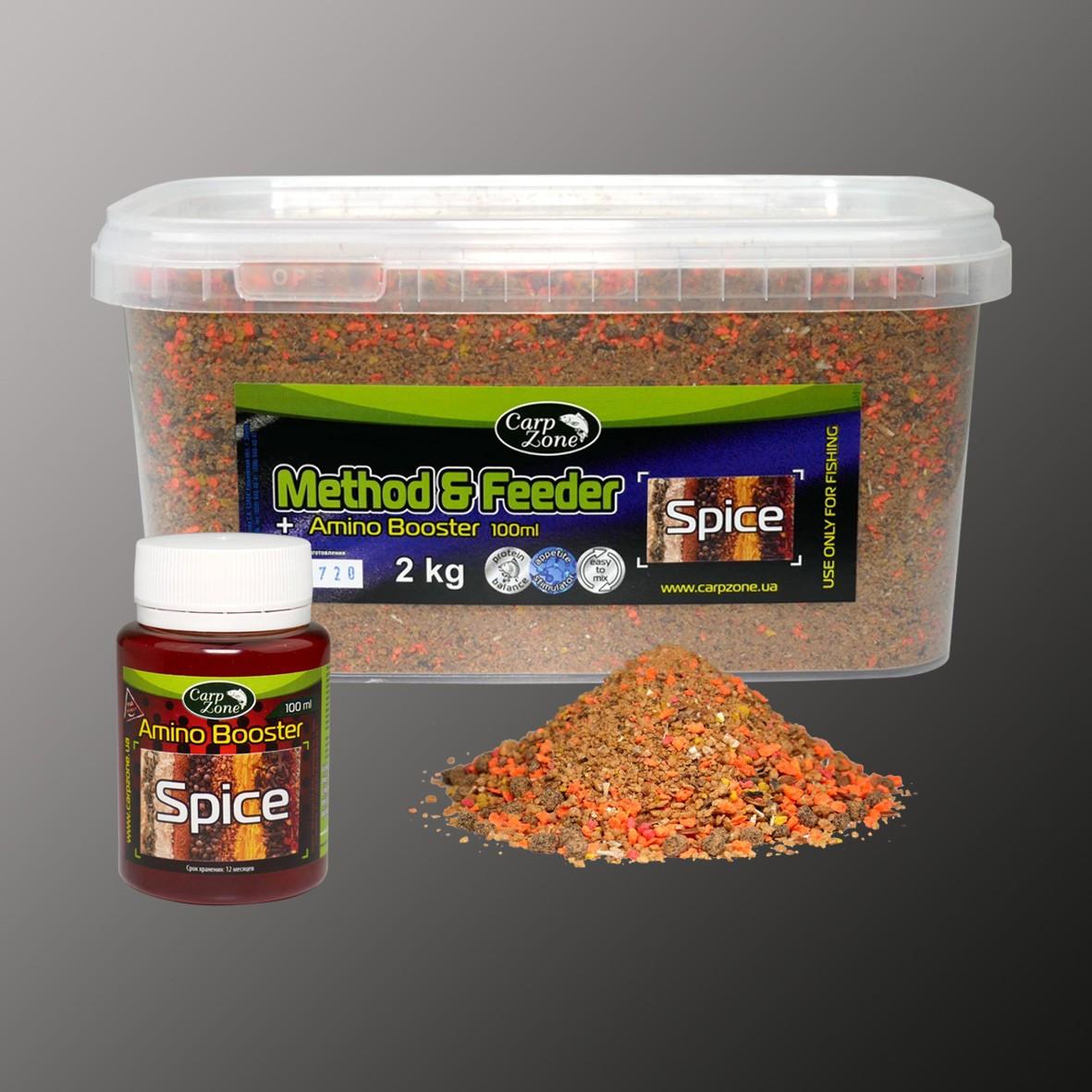 Набор Set Method & Feeder Spice (Специи) 2kg + Amino Booster Spice 100ml