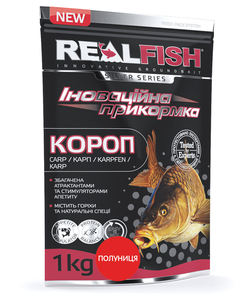 "Прикормка Real Fish ""Карп"" (Клубника)"