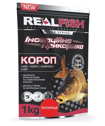 "Прикормка Real Fish ""Карп"" (Клубника), фото 2"