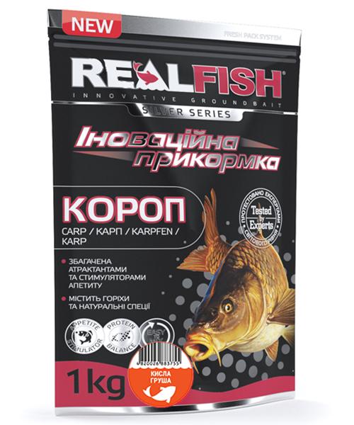"Прикормка Real Fish ""Короп"" (Кисла Груша)"