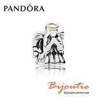Шарм Pandora ЧУДЕСНЫЙ АНГЕЛ серебряно-золотая Бусина 791770 серебро 925 Пандора оригинал