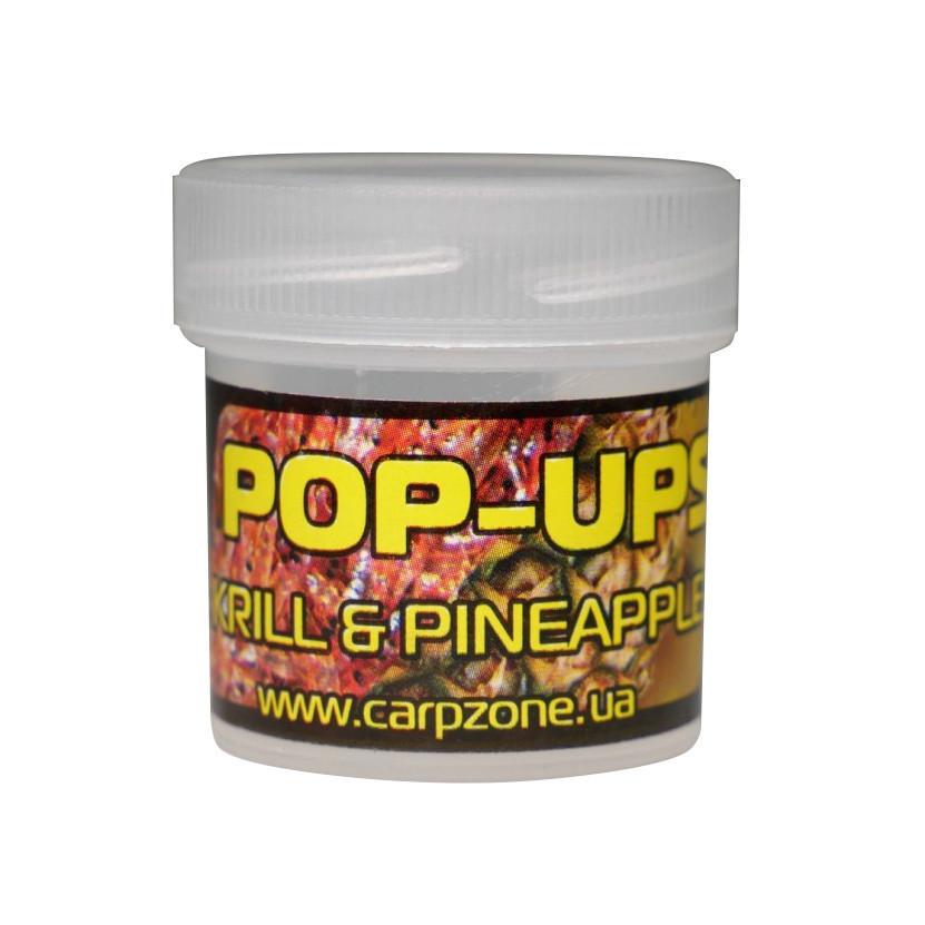 Поп Ап Pop-Ups Fluro Кrill & Pineapple (Креветка и Ананас) 10mm/15pc