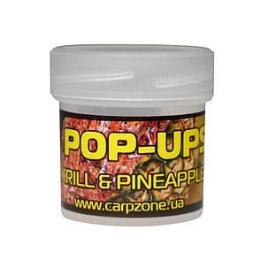 Поп Ап Pop-Ups Fluro Кrill & Pineapple (Креветка и Ананас) 10mm/15pc, фото 2