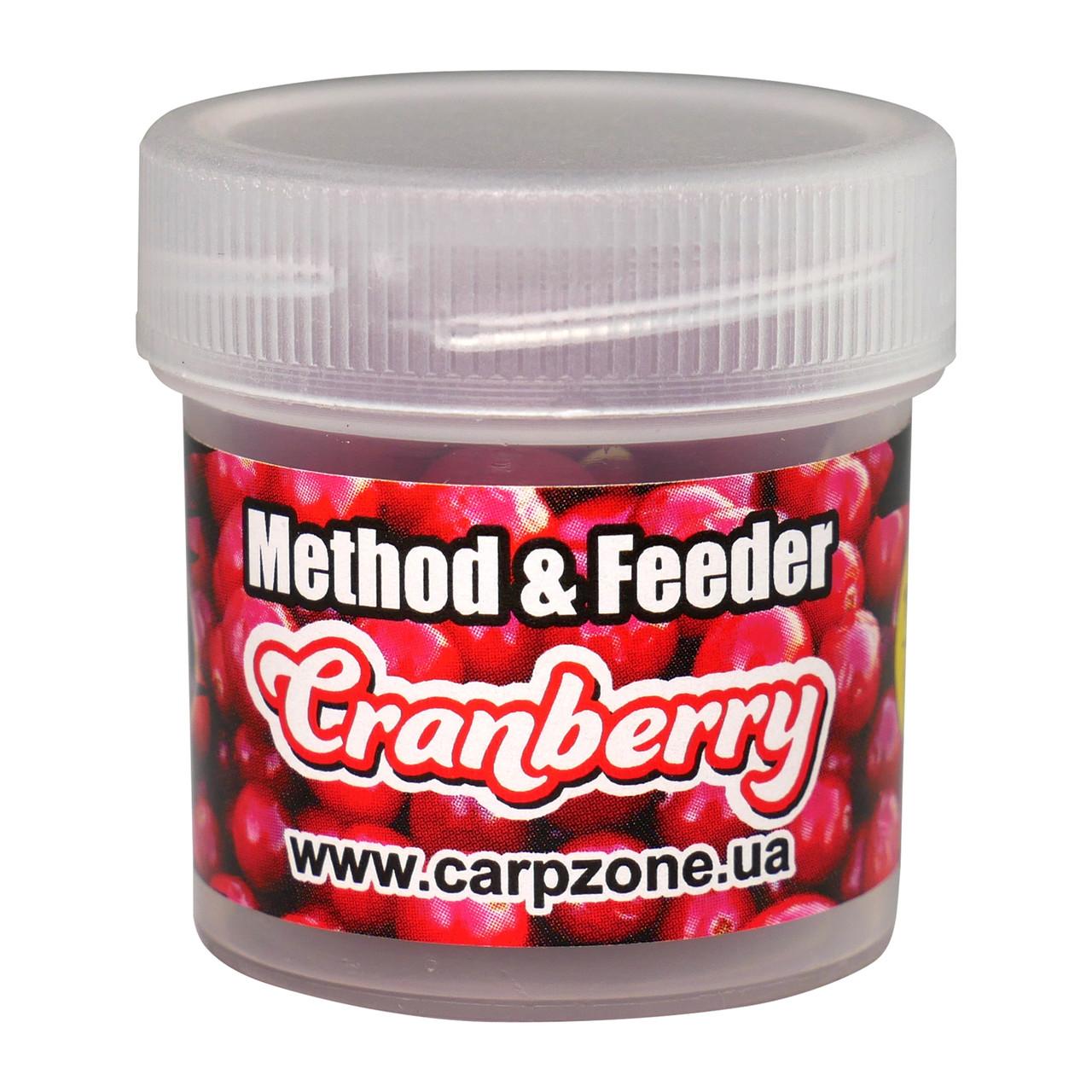 Бойли насадкові порошать Boilies Method & Feeder series Soluble Сranberry (Журавлина) 10mm/15pc