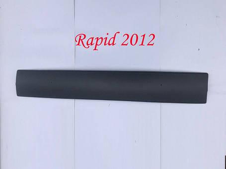 Skoda Rapid Зимняя решетка нижняя глянцевая / Зимние накладки Шкода Рапид, фото 2