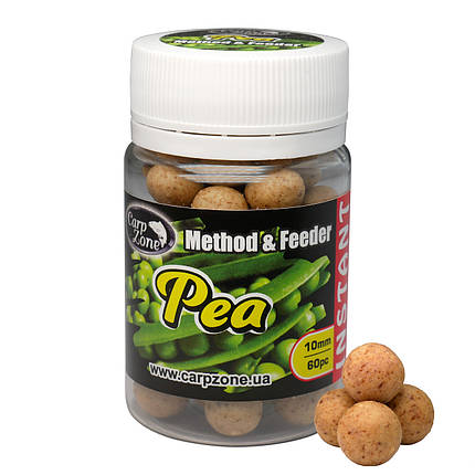 Бойли насадкові варені Boilies Method & Feeder series Instant Pea (Горох) 10mm/60pc, фото 2