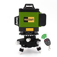 Лазерный уровень Procraft LE-4G зелёный луч, фото 1