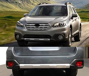 Передняя и задняя накладки V1 (2 шт) Subaru Outback 2015↗ гг. / Тюнинг переднего бампера Субару Аутбек