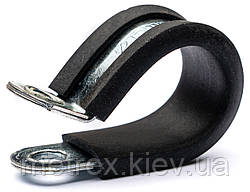 R-Хомут для труб сантехнический d-10 обжимной с резиновой прокладкой DIN 3016