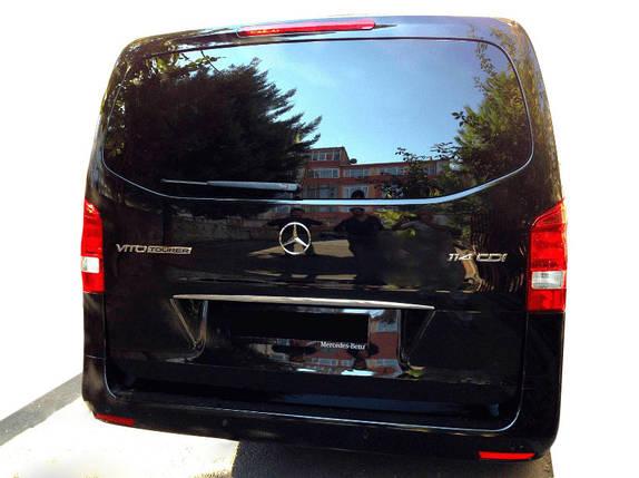Планка над номером Узкая (нерж) Mercedes Vito / V W447 2014↗ гг. / Накладки на двери Мерседес Бенц Вито, фото 2