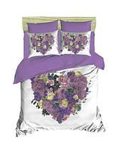 Постельное белье Евро 200х220 хлопок ранфорс LIGHT HOUSE 3D рисунок Violette