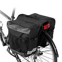 Велосипедная сумка на багажник, 28л, черная