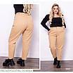 Брюки МОМ стильные высокая талия джинс плотный 46,48,50,52,54, фото 2