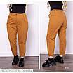 Брюки МОМ стильные высокая талия джинс плотный 46,48,50,52,54, фото 4