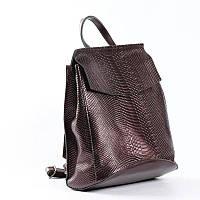 Женский кожаный рюкзак сумка под змею из натуральной кожи Бронзовый женские рюкзаки с накидкой
