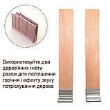 Дерев'яний гніт з металевим тримачем висотою 15 см, ширина 1,2 см, фото 4